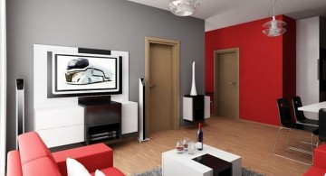 small living room ideas in red