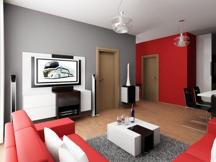 Contemporary Small Living Room In A Small Apartment