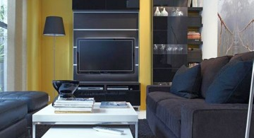 small living room ideas with black IKEA furniture