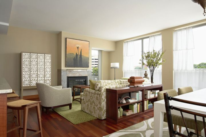small living room ideas with glass wall