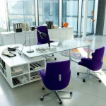 small office plans with multipurpose glass desk