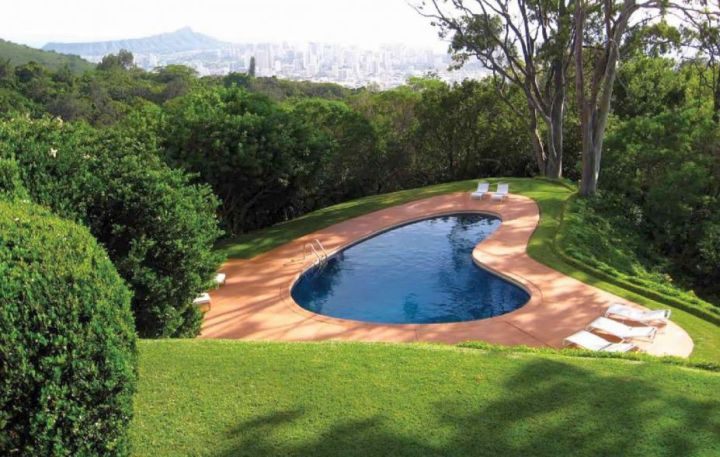 small pool on spacious back yard