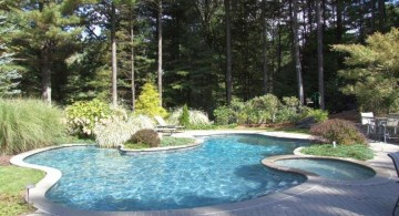 small pool with jacuzzi