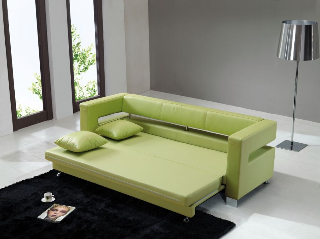 small sofa beds for small rooms in lime green