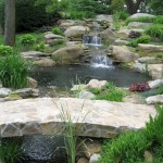 small waterfall landscaping designs with big rocks