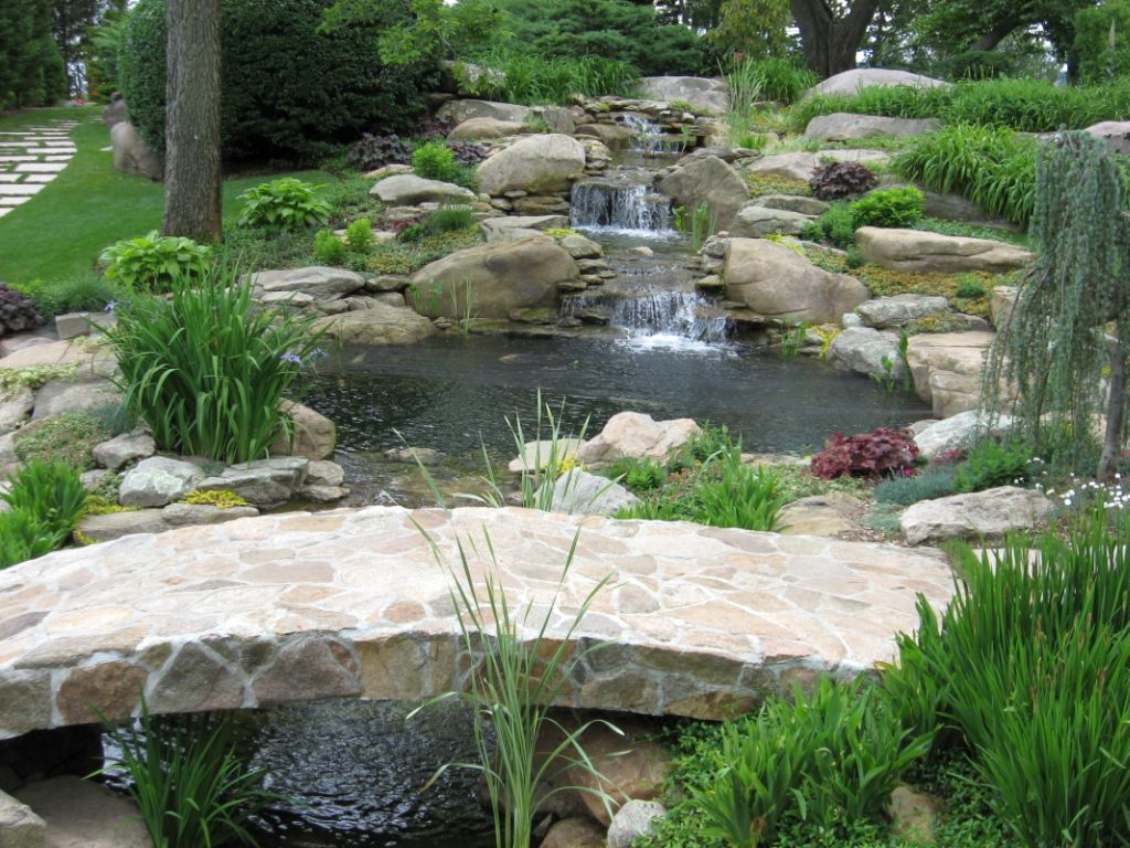 Waterfall Landscape Design Ideas garden waterfall rock spillway Small Waterfall Landscaping Designs With Big Rocks