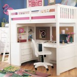 smart loft bed with desk white with separate drawers