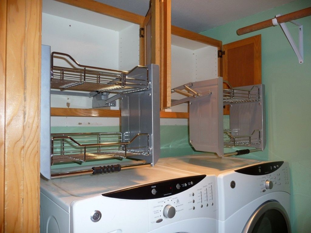 smart shelving small laundry room designs