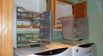 smart shelving small laundry room designs