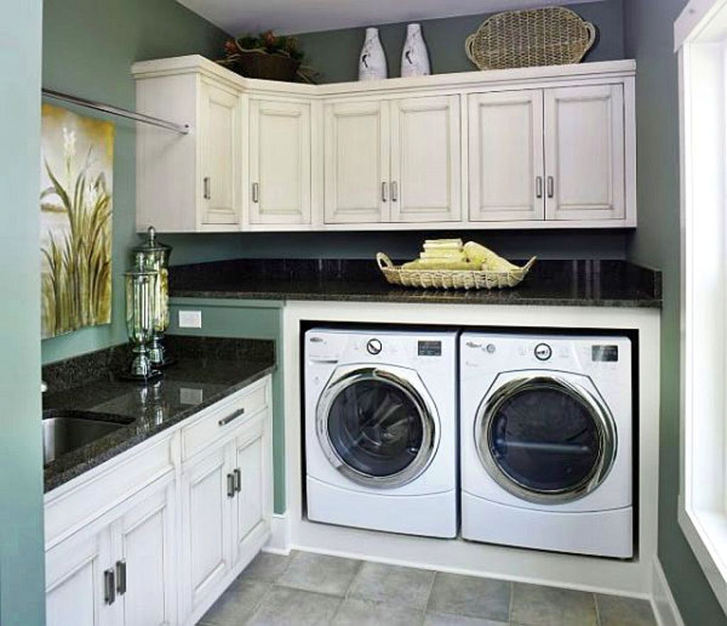 A Japanese Inspired Apartment With Plenty Storage Systems: 20 Briliant Small Laundry Room Storage Solutions