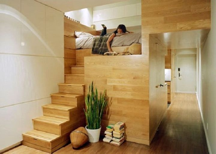 smart space savvy adult loft bed with stairs