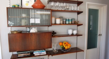 smart space usage floating shelf decorating ideas