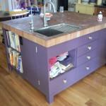 smart storage ideas for kitchen island with sink