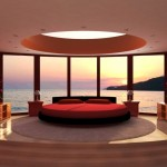 spacious contemporary red black and white bedroom ideas