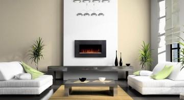 spacious contemporary scandinavian fireplace design ideas