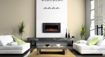 spacious contemporary scandinavian fireplace design ideas