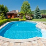 spacious kidney shaped swimming pools