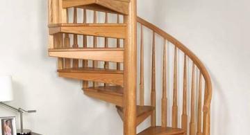 spiral wooden stairs