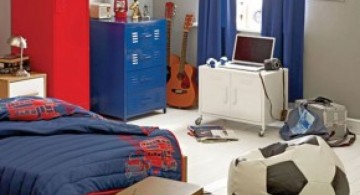 sport themed boys blue room