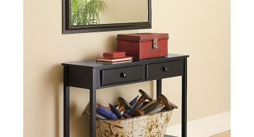 squared away small entry table ideas