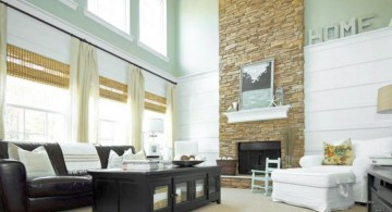 stack stone fireplaces for modern look interior