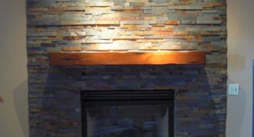 stack stone fireplaces with colorful rocks