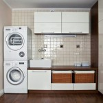 stacked machines for small laundry room designs