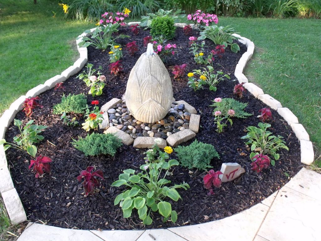 Stones for flower beds with lotus fountain izmirmasajfo