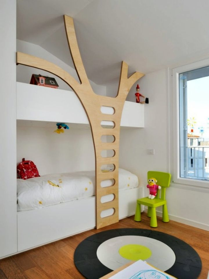 stylish bunk beds with cute ladder style