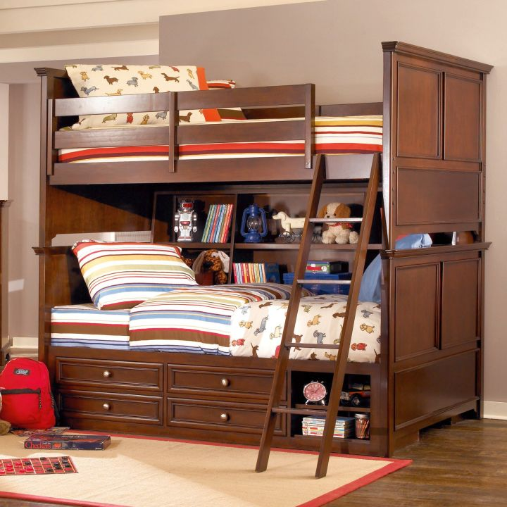 stylish bunk beds with storage drawers