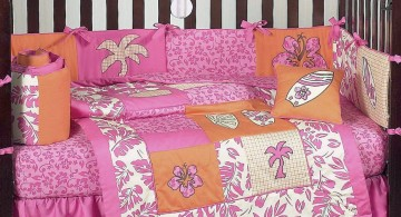 summer themed cute baby girl bedding ideas