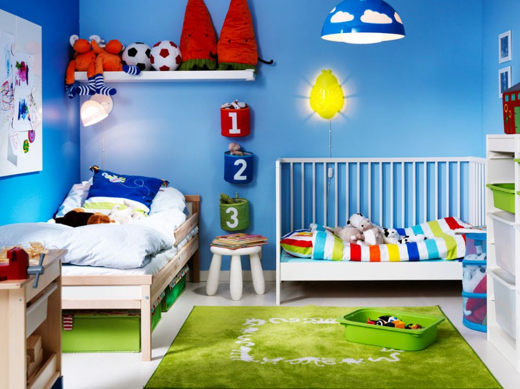 Sunshine And Blue Sky Kids Rooms Paint Ideas