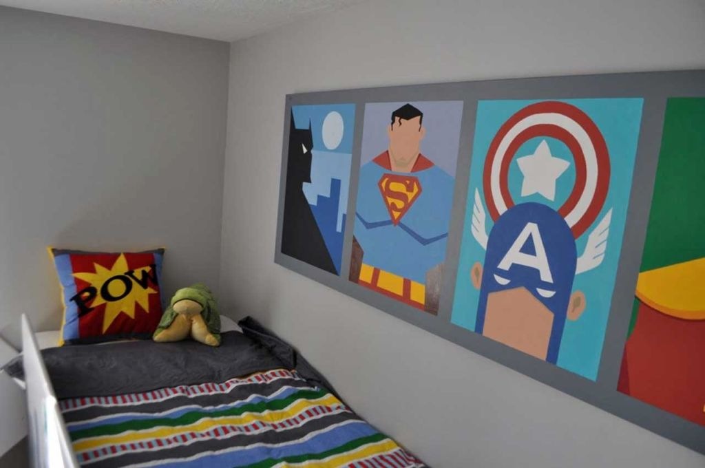 Superheroes pictures cool painting ideas for bedrooms for Cool canvas ideas