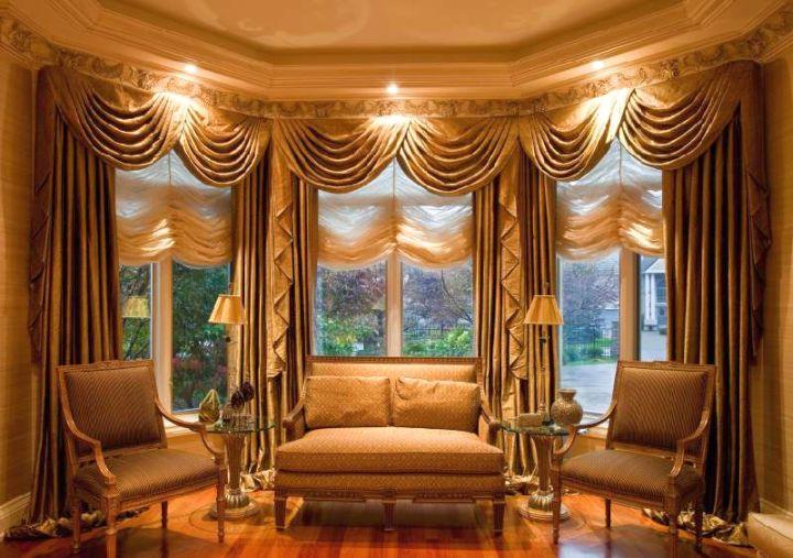 Kitchen Valances Bay Windows. Kitchen Attractive Window Treatment