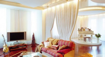 tall ceiling classy pastel-colored room designs