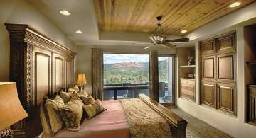 tall headboard tuscan style bedroom furniture