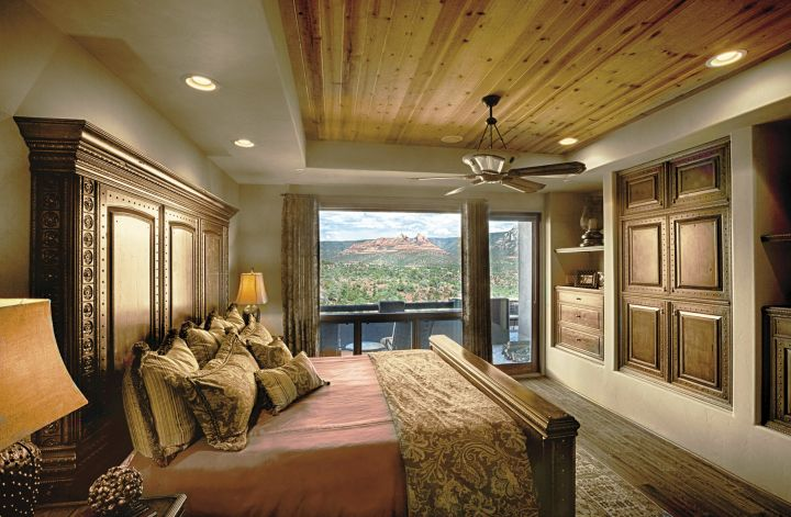 tall headboard tuscan style bedroom furniture