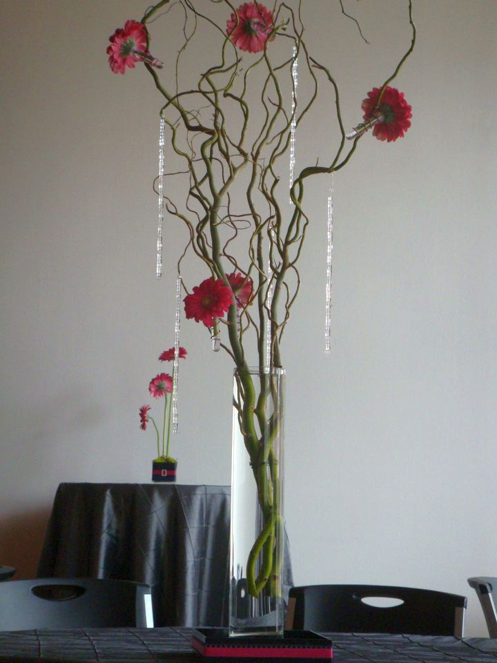 tall vase with branches