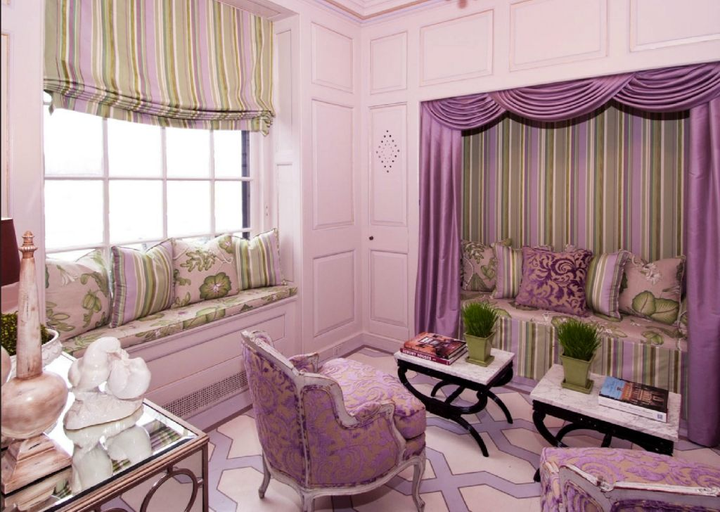 Teenage Girl Curtain Designs In Purple Shades