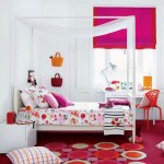teenage girls room inspiration designs with four posts bed
