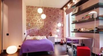 teenage girls room inspiration designs with smart floating shelves