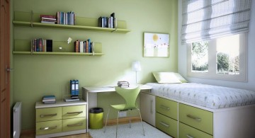 teenage rooms ideas in green with multipurpose bed