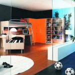 teenage rooms ideas with bunk beds and sport theme