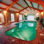 terracotta tiled indoor swimming pool designs