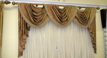 three swag valance patterns and bar