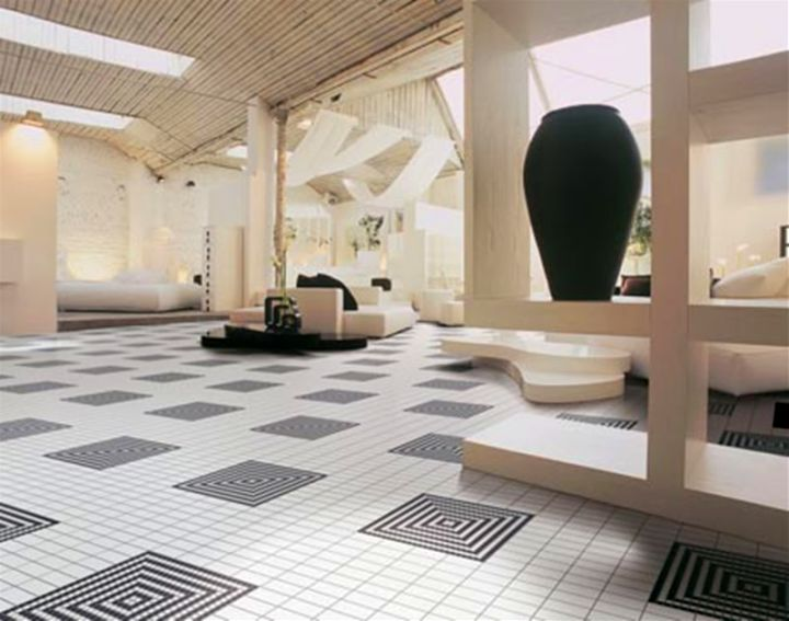 19 tile flooring ideas for living room to look gorgeous for Flooring ideas for family room