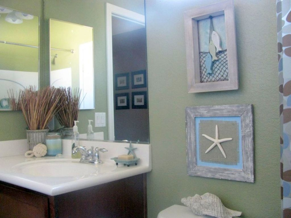 15 Beach Themed Bathroom Design Ideas: Tiny Bathroom Design Ideas In Beach Theme
