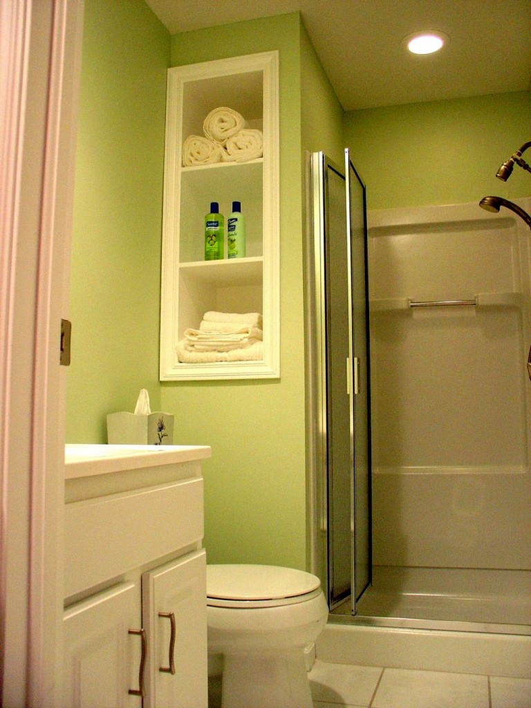 Small white bathroom vanities