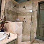 tiny bathroom design ideas with glass door for the shower
