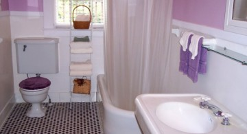 tiny bathroom design ideas with plush toilet cover